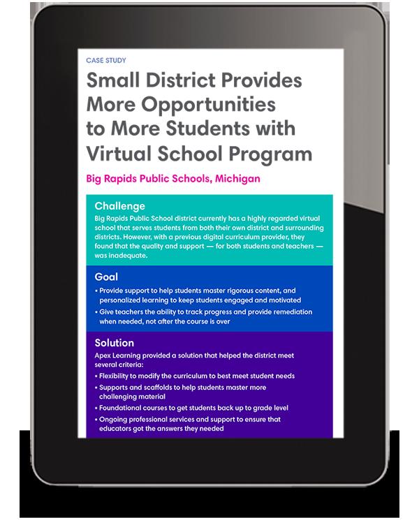 Big Rapids Virtual School Case Study