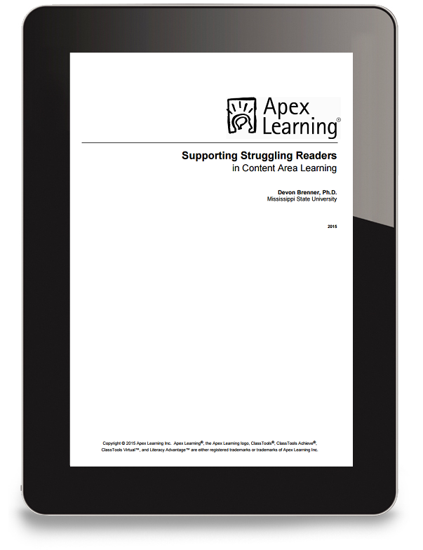 Supporting Struggling Readers White Paper