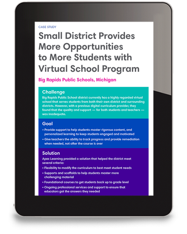 Big Rapids Virtual School Case Study